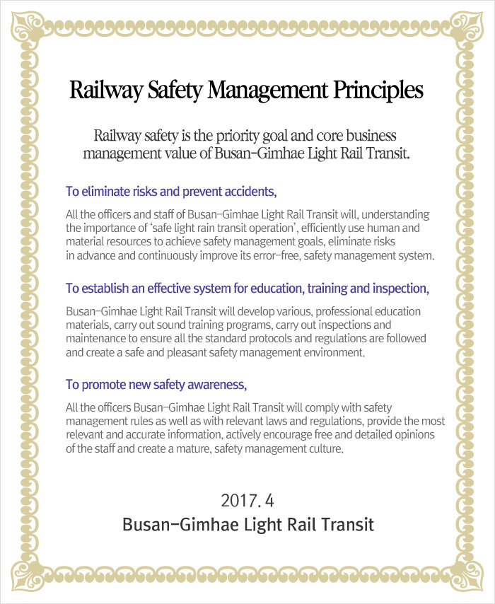 Railway Safety Management Principles